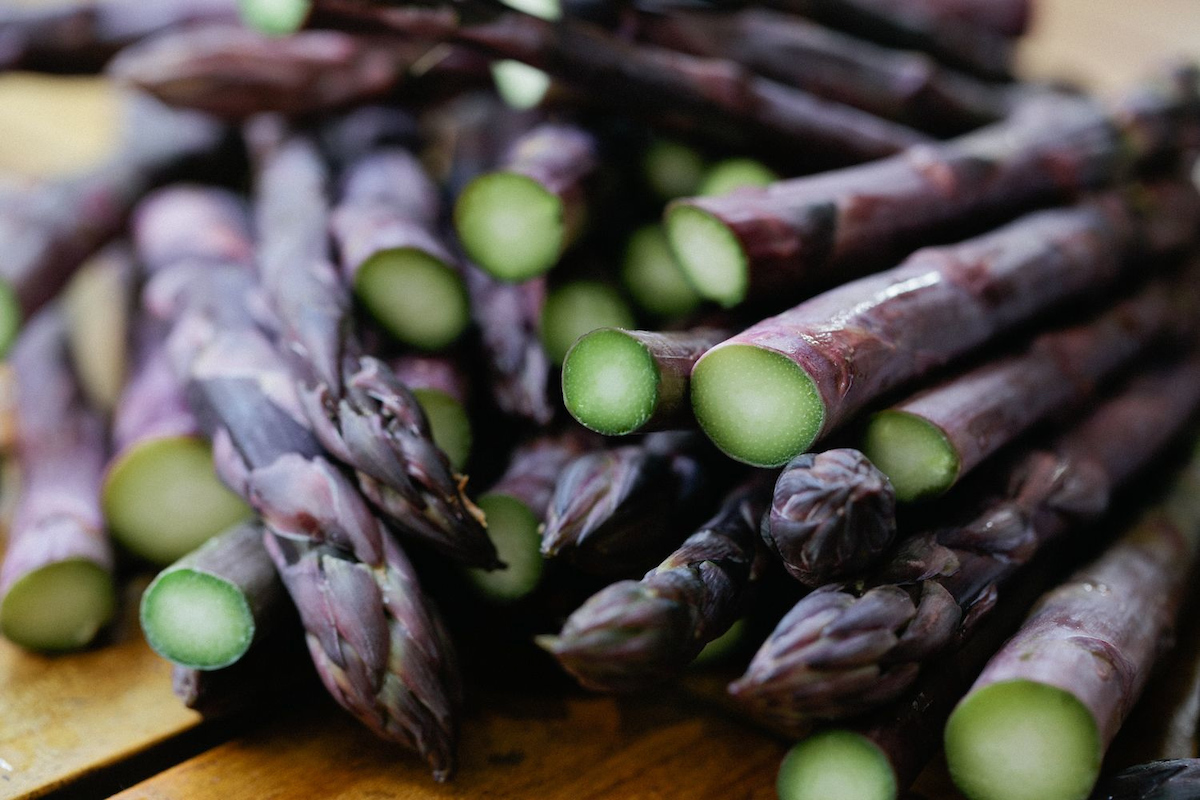 Image of purple asparagus