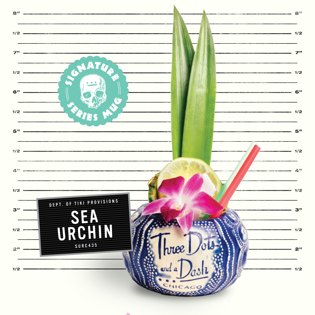 Three Dots sea urchin mug