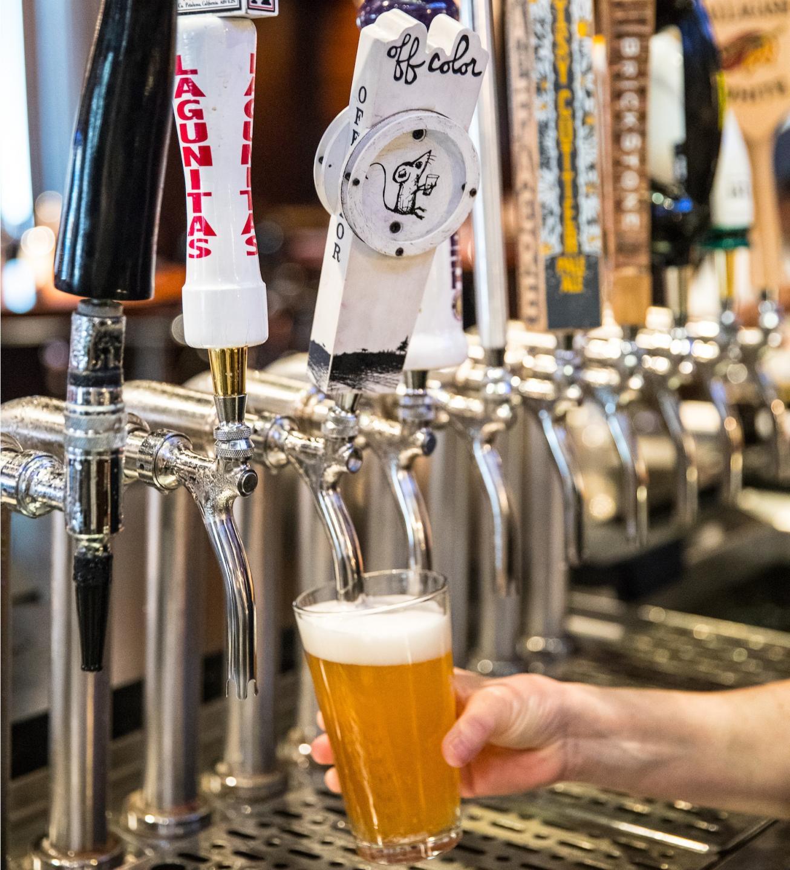 beer taps at hub 51