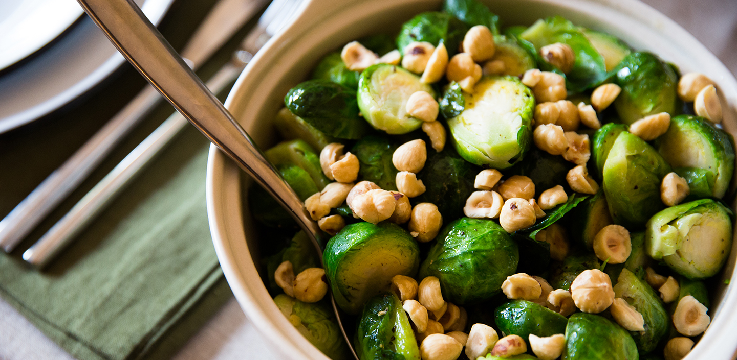 Wildfire's brussels sprouts and toasted hazelnuts