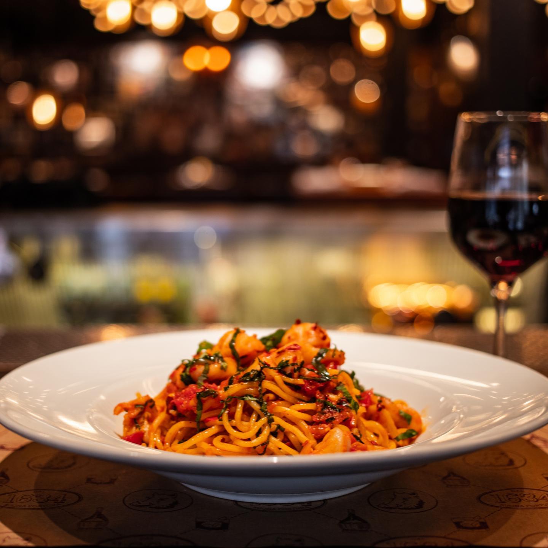 Il Porcellino Spicy Scampi Spaghetti