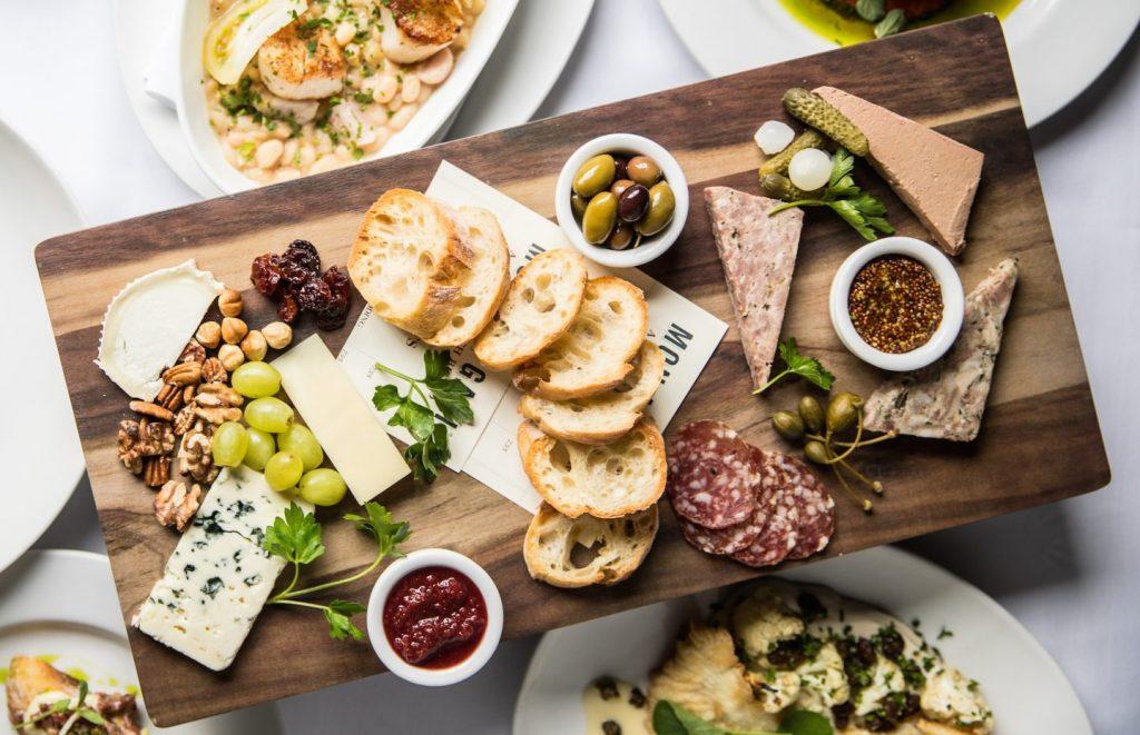 Mon Ami Gabi's charcuterie & cheese platter
