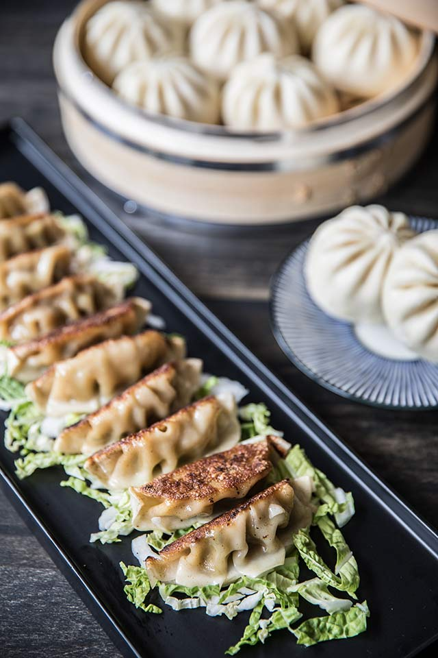 Bao and potstickers