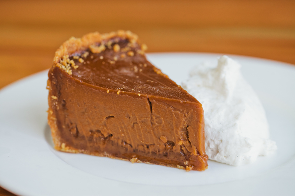 slice of caramel pie at Beatrix