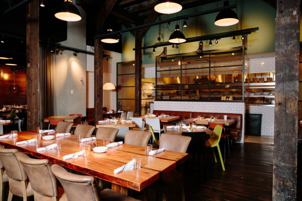 The dining room at Beatrix Streeterville