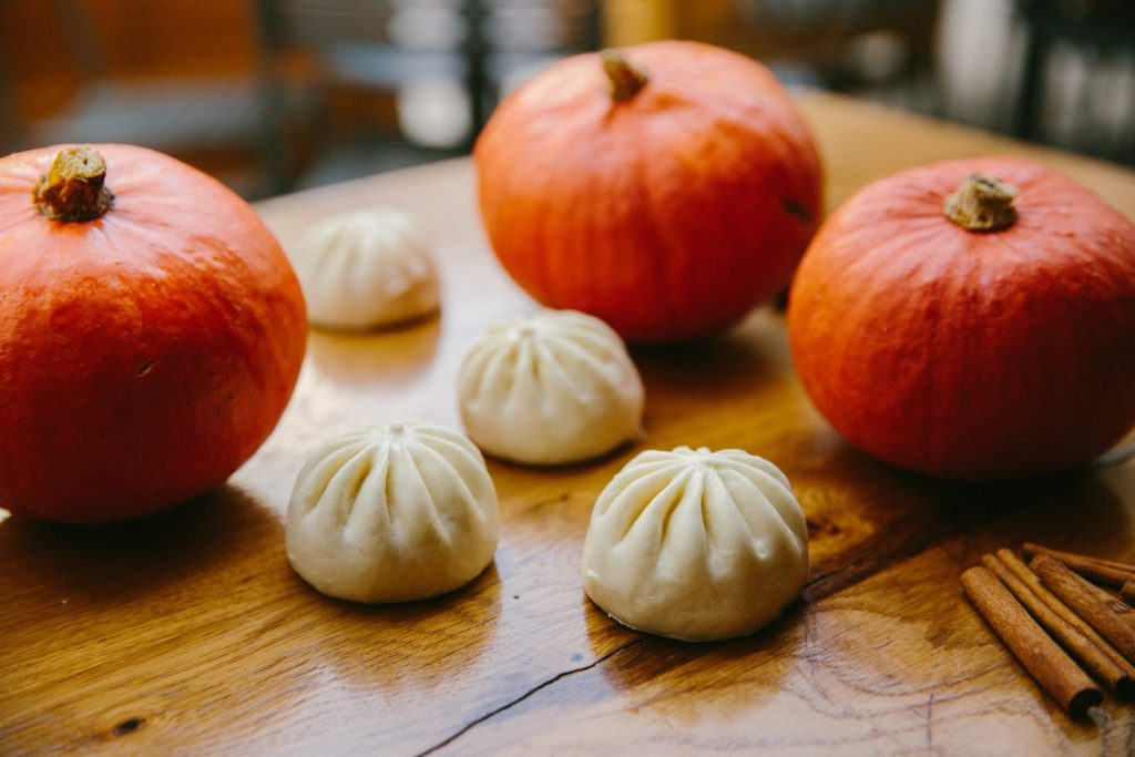 pumpkin filled bao