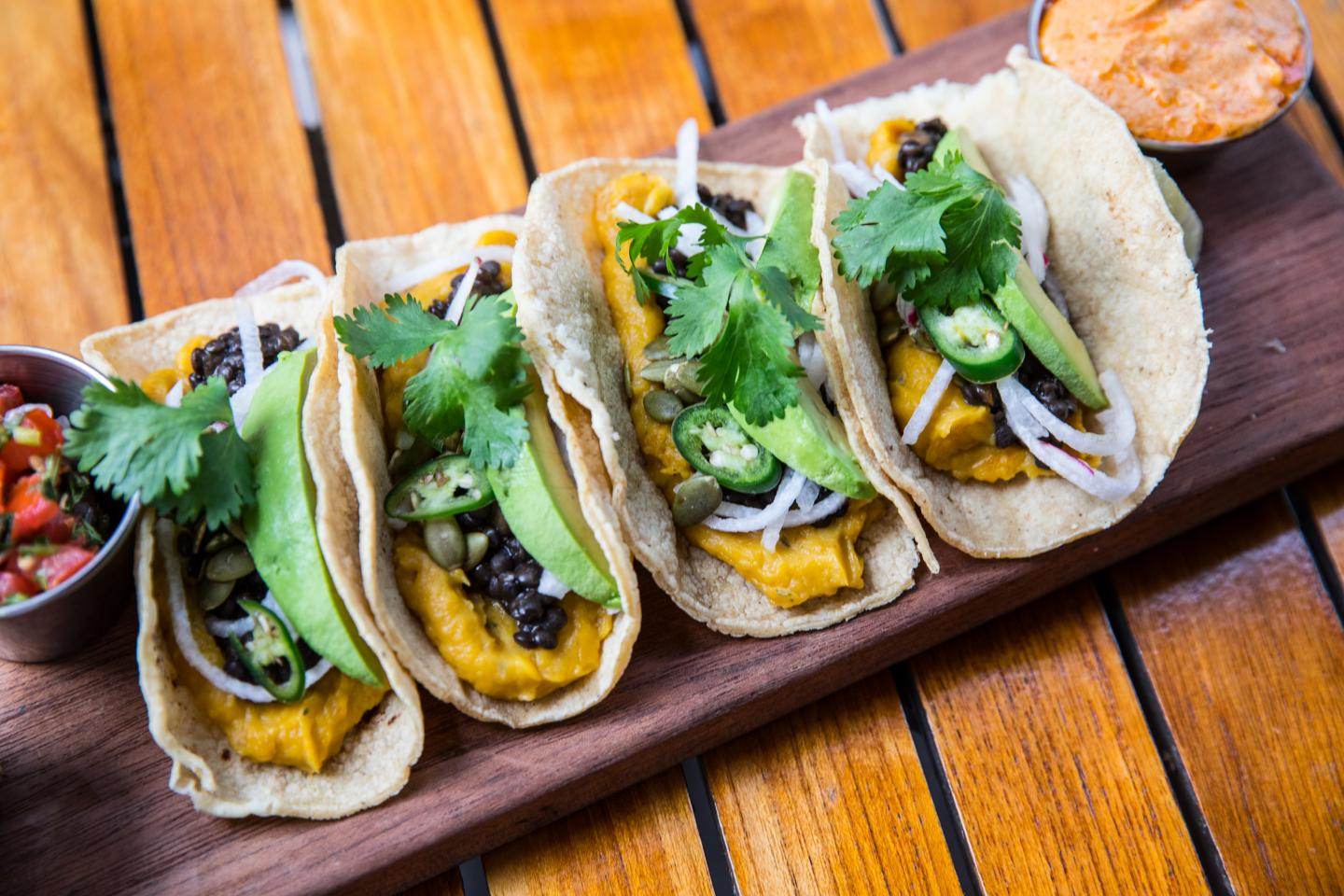Hub 51 Roasted Butternut Squash and Roasted Lentil Tacos