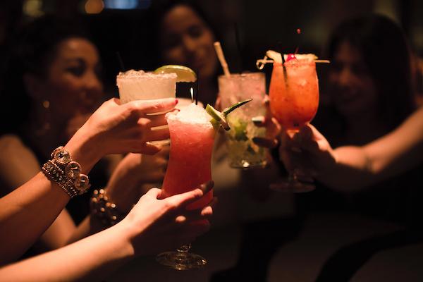 Cheersing cocktails at Nacional 27
