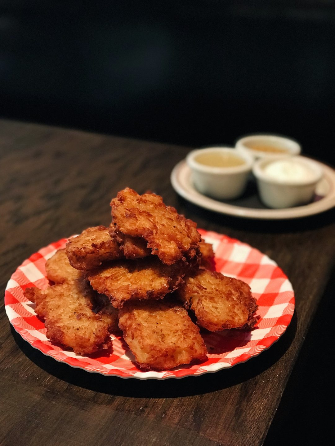 Bub City's Latkes served with house made applesauce and sour cream