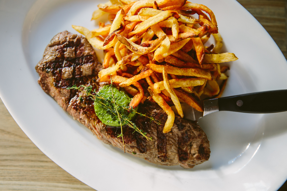 Steak and fries from Mon Ami Gabi