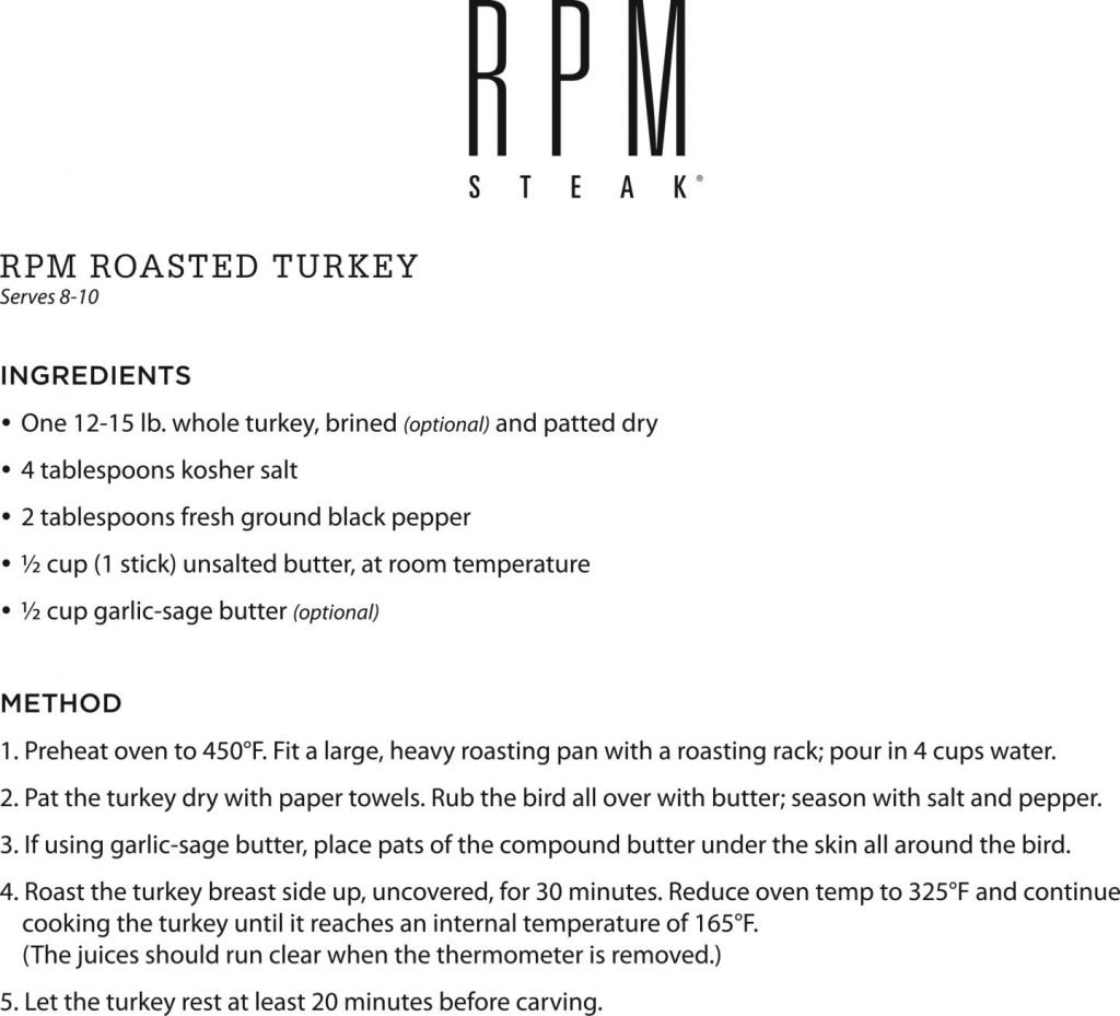 rpm steak's roasted turkey recipe
