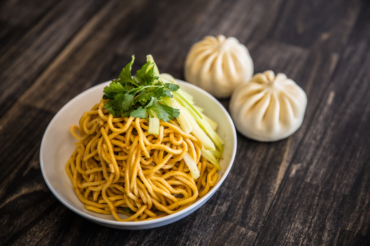Peanut noodles and two bao lunch combo
