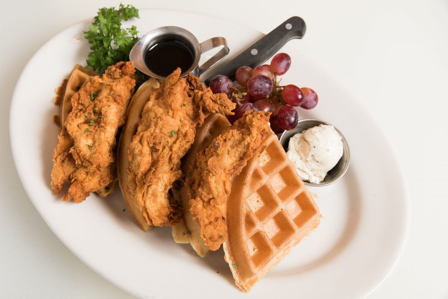 Looking for fried chicken atop a waffle? Look no further than Mity Nice Grill, the best restaurant ever to be located inside a mall.