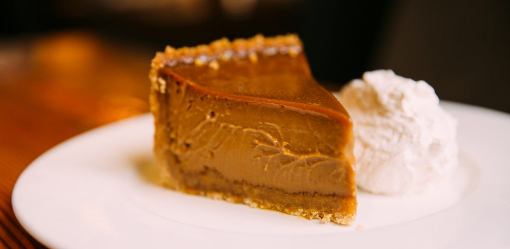 Beatrix's Oh My! Caramel Pie with a dollop of whipped cream
