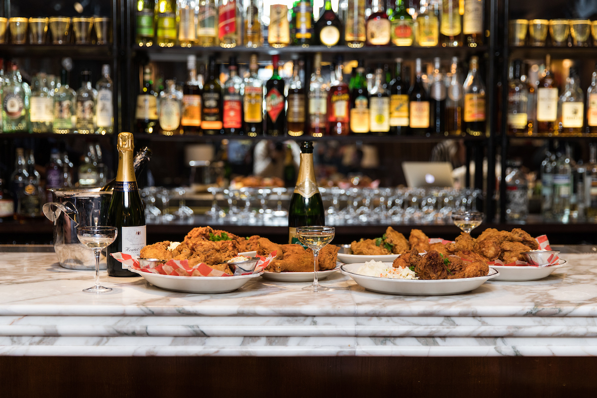 Fried Chicken & Champagne - the best combo since steak and red wine