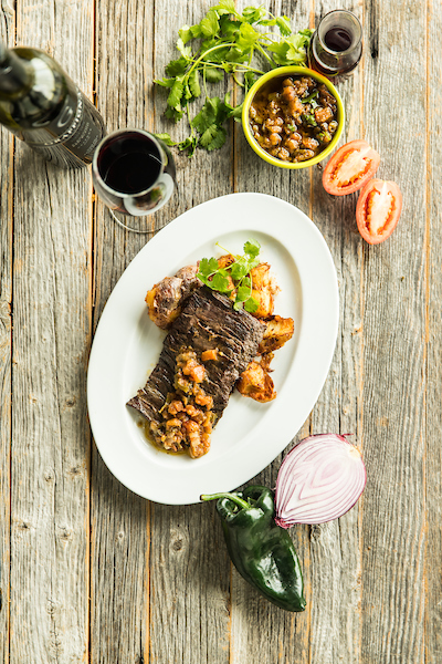 Mexican Street Steak with Salsa criolla