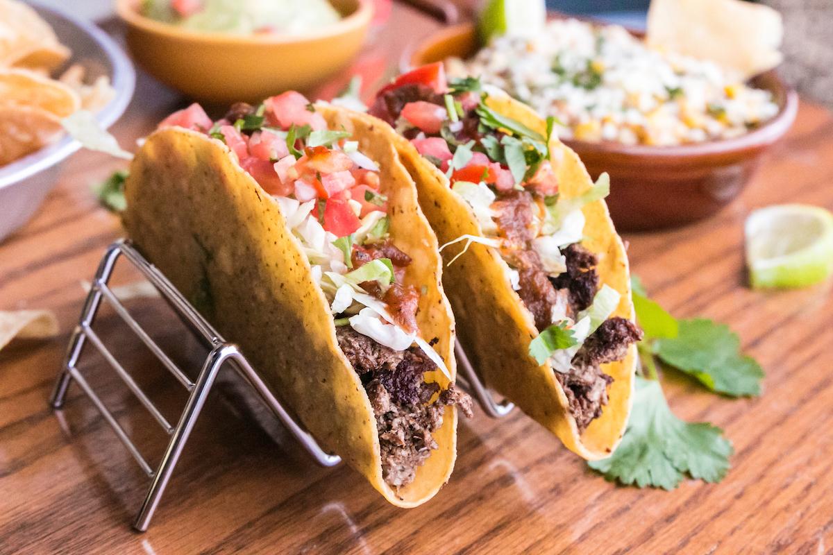 Two hardshell tacos