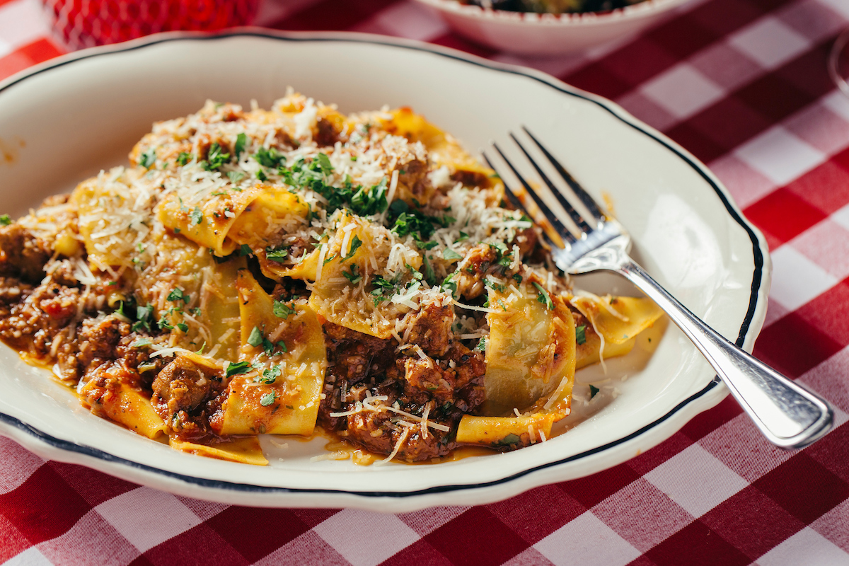Papparadelle with meat sauce from il Porcellino