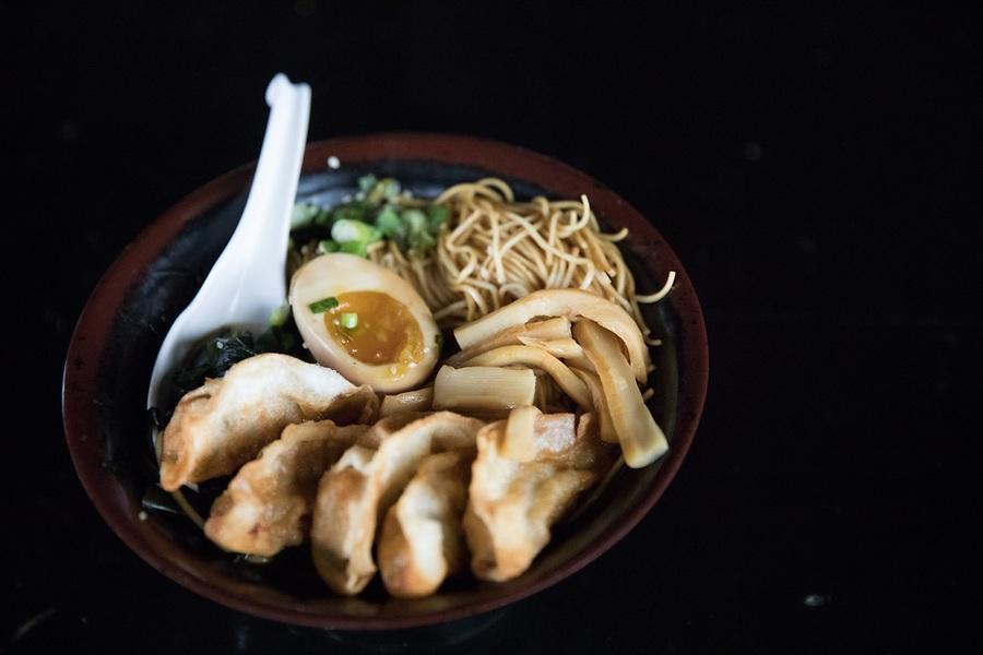 potsticker ramen from Schaumburg's Tokio Pub