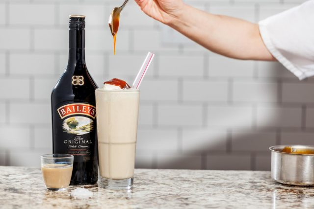 Salted Caramel Milkshake with Baileys