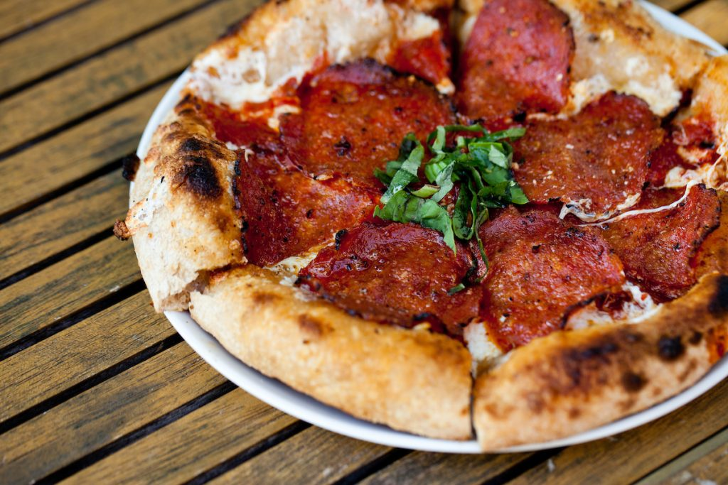 Grilled Pepperoni Pizza at Wildfire