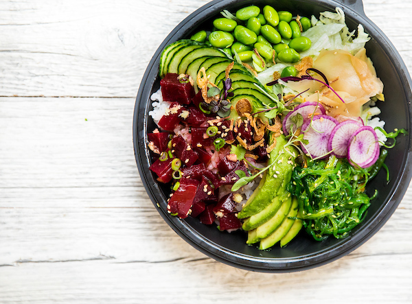 beet poke bowl from asap poke