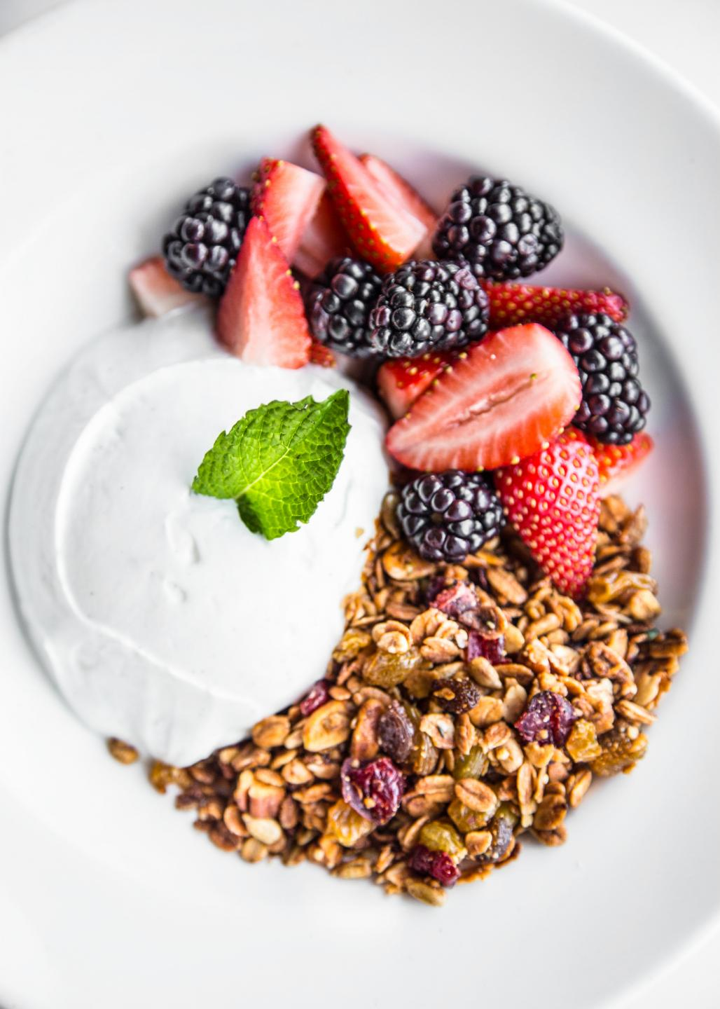 Beatrix Greek Yogurt with berries and granola