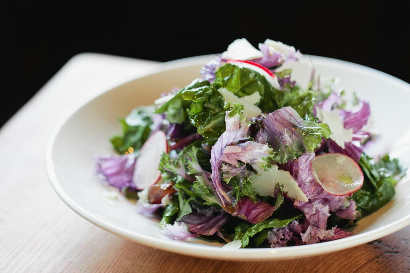 purple kale emerald salad from stella barra