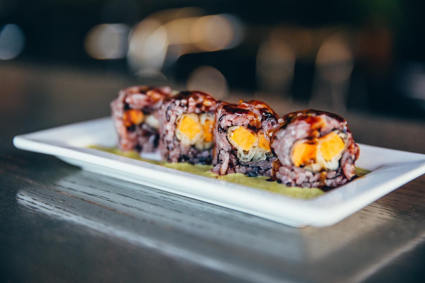sweet potato sushi roll from tokio pub