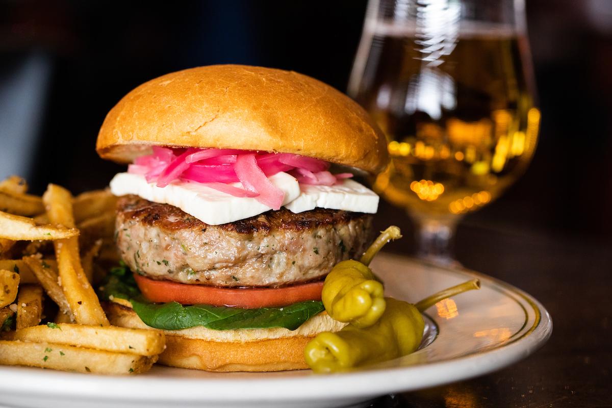Joe's Chicago Mediterranean Turkey Burger
