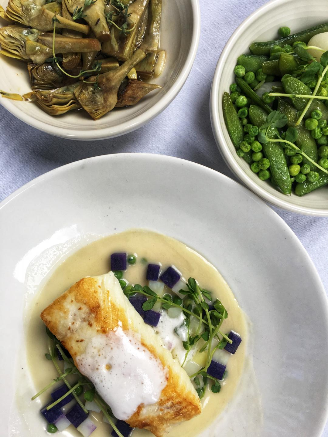 Shaw's Chicago's Pan Roasted Alaskan Halibut