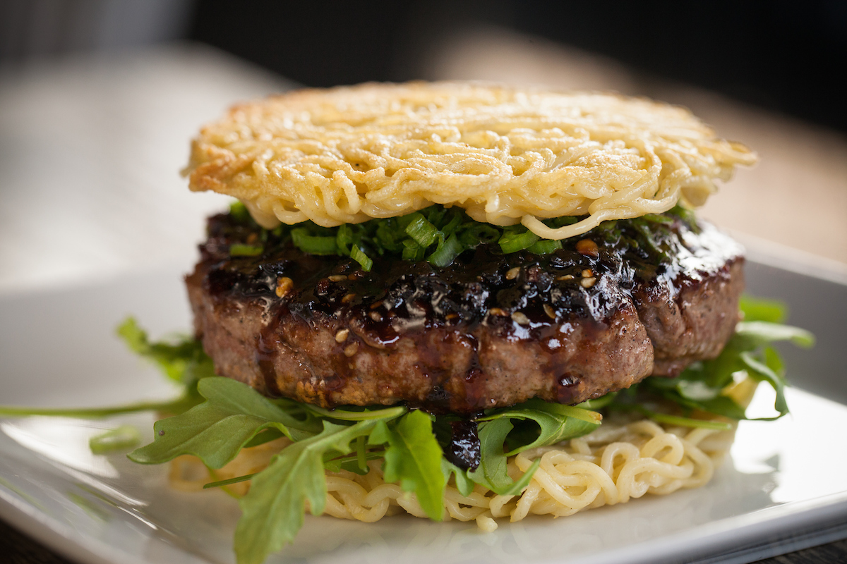 Ramen Burger at Tokio Pub