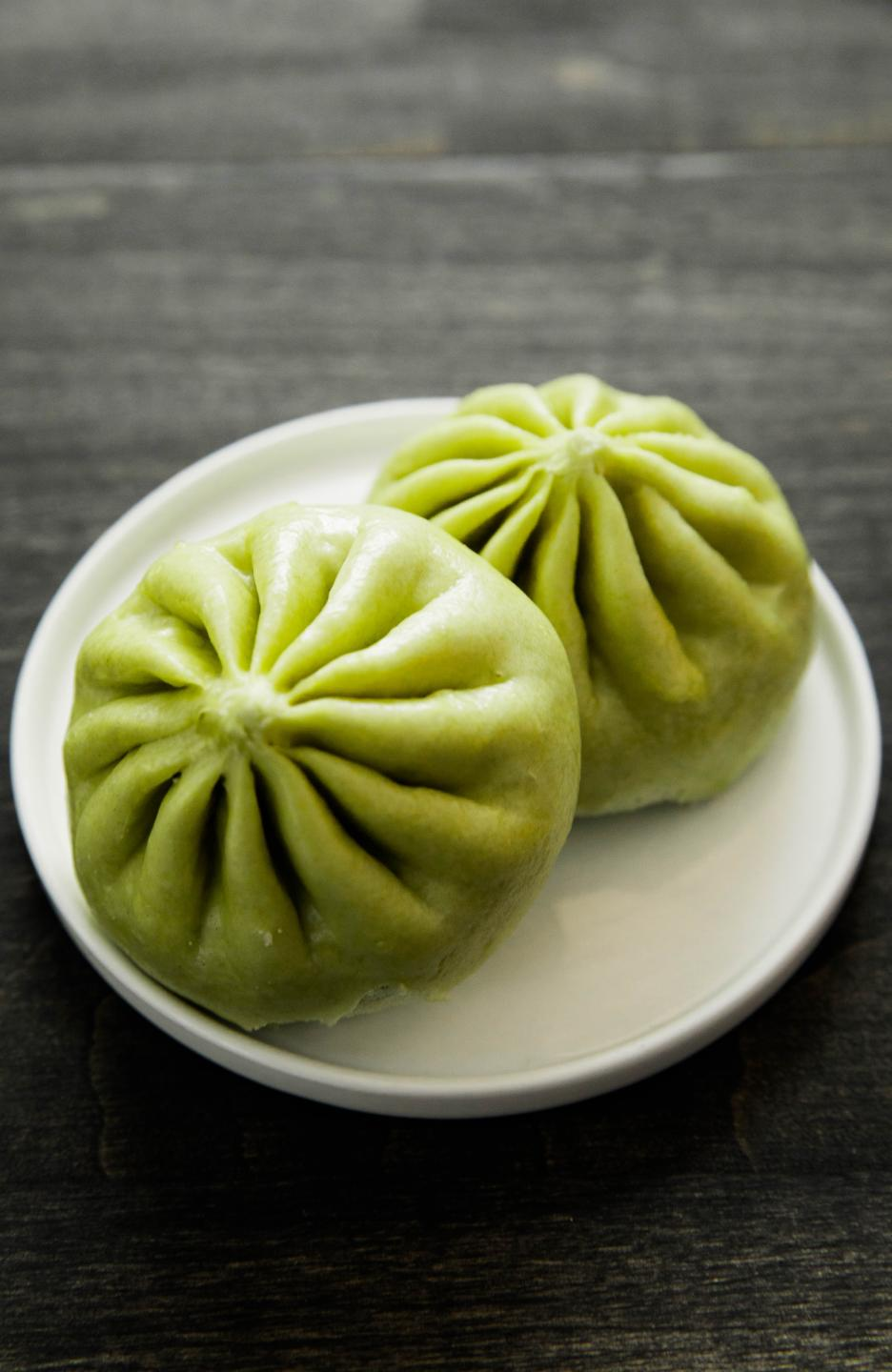 two matcha bao from Wow Bao