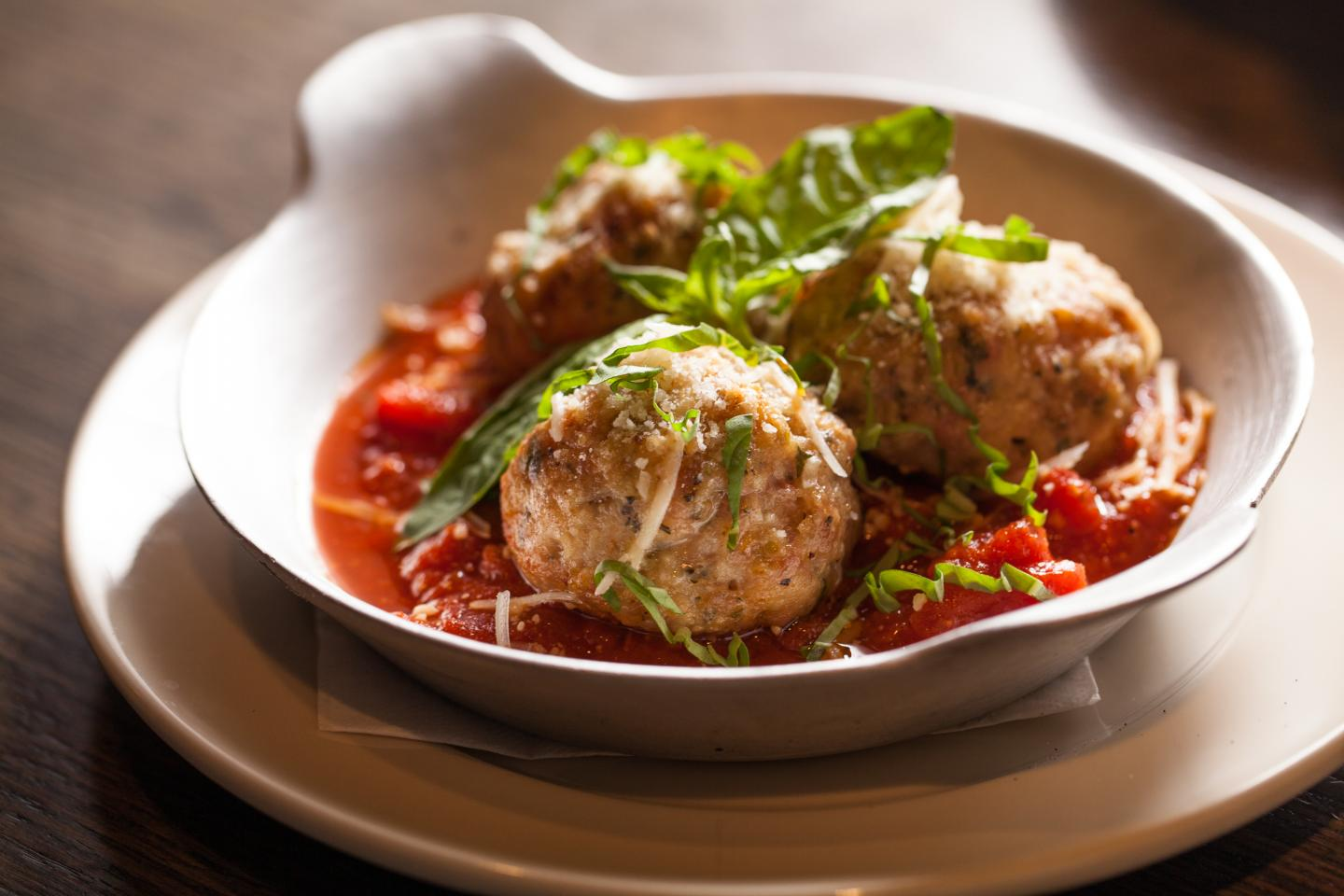 chicken meatballs in sauce