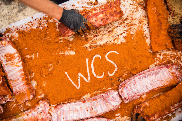 "image of ""WCS"" written in bbq spice"