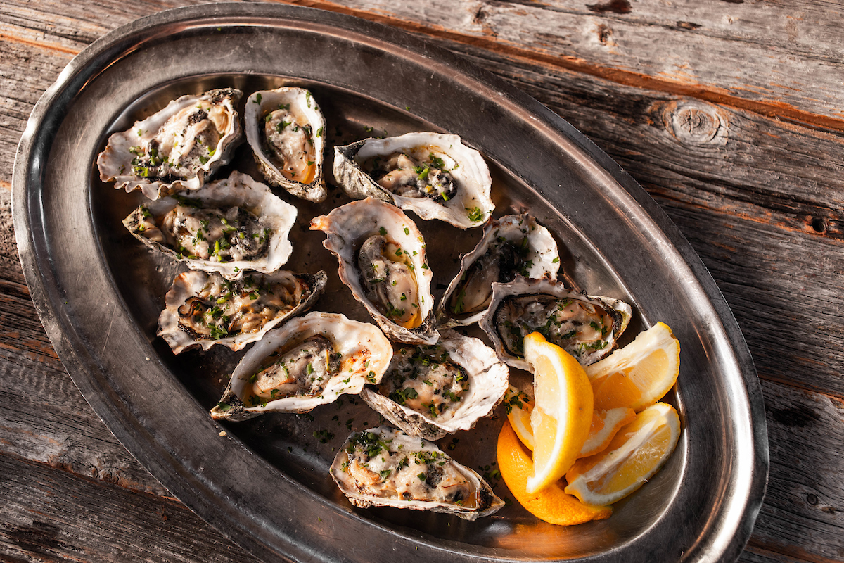 Grilled oysters from joe's