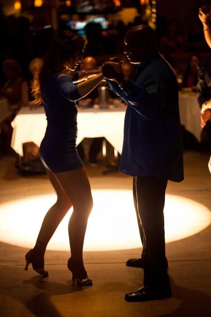 Dancers doing the salsa