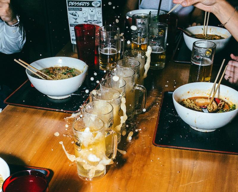 sake bombs at Ramen-san