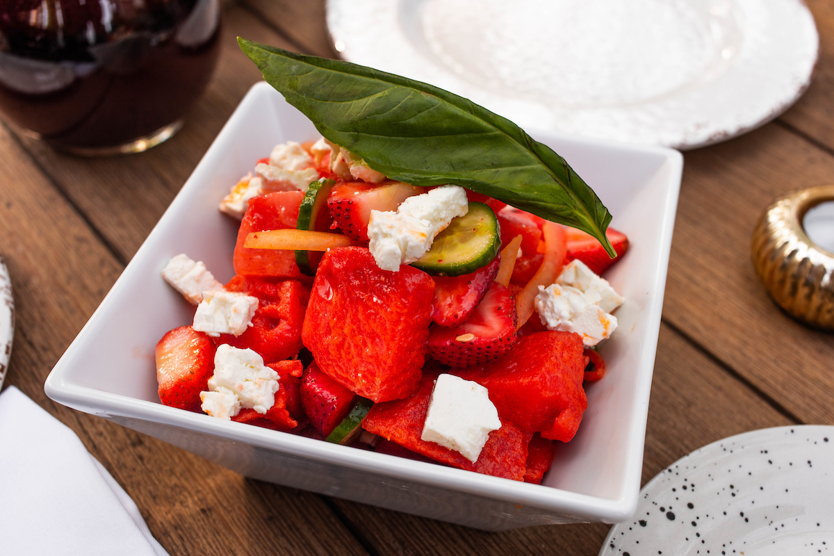 watermelon salad from ema