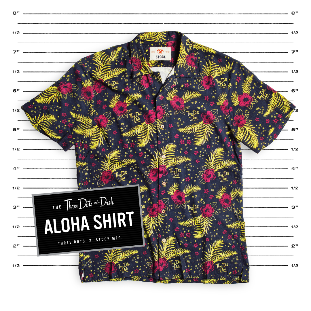 aloha tiki shirt from three dots and a dash