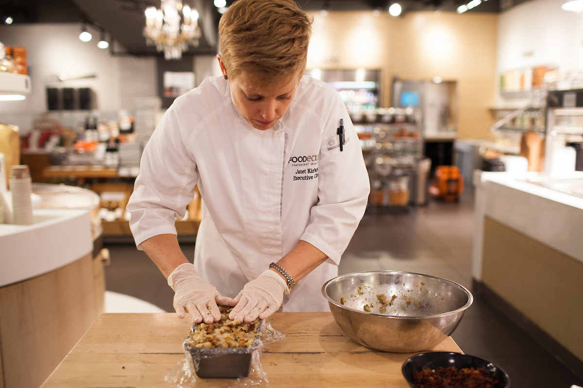Chef Janet Kirker at Foodease