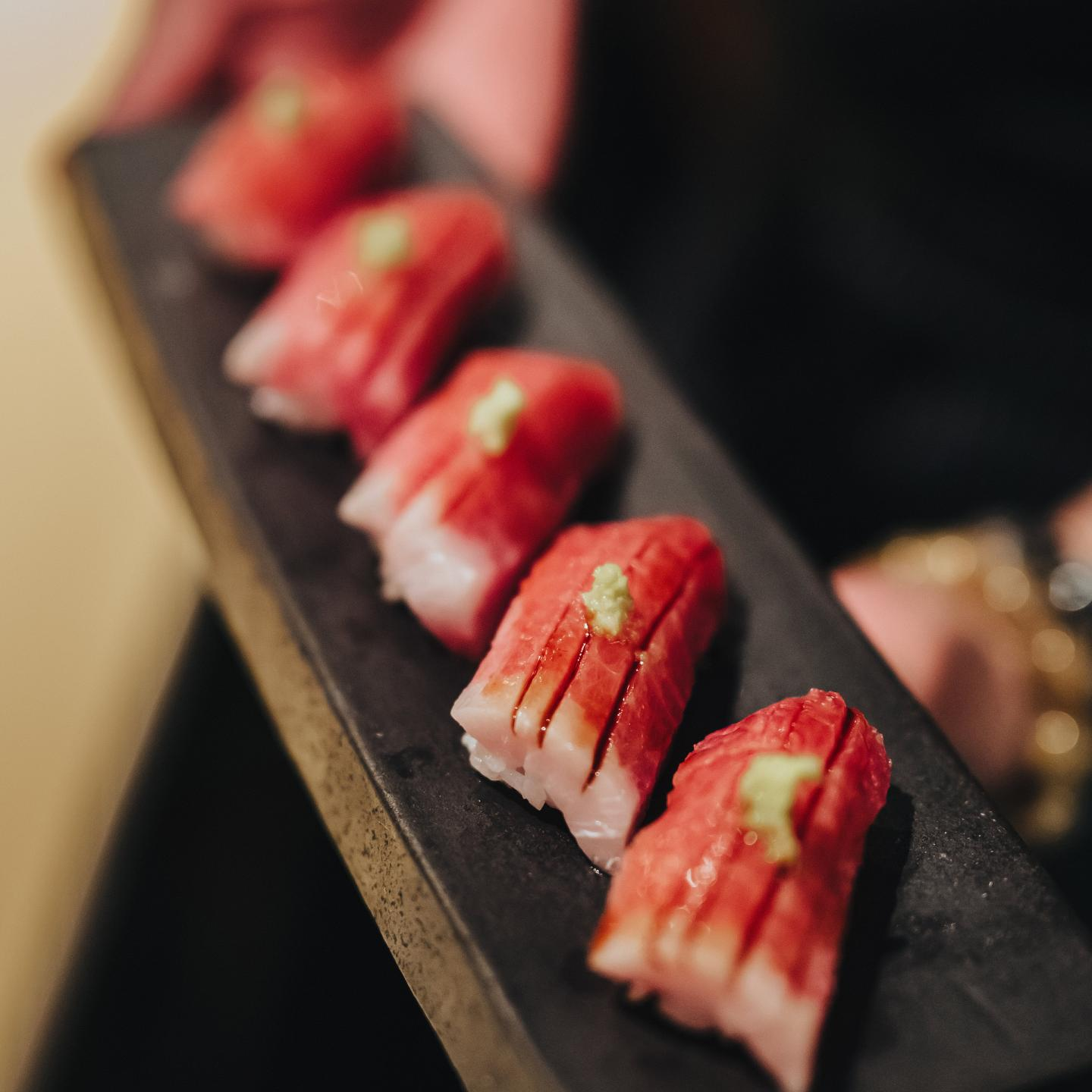 nigiri of tuni from sushi san