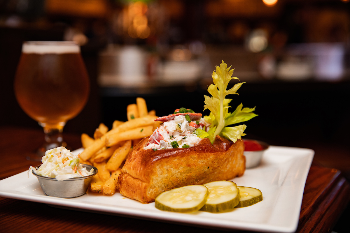 Lobster Roll with Beer