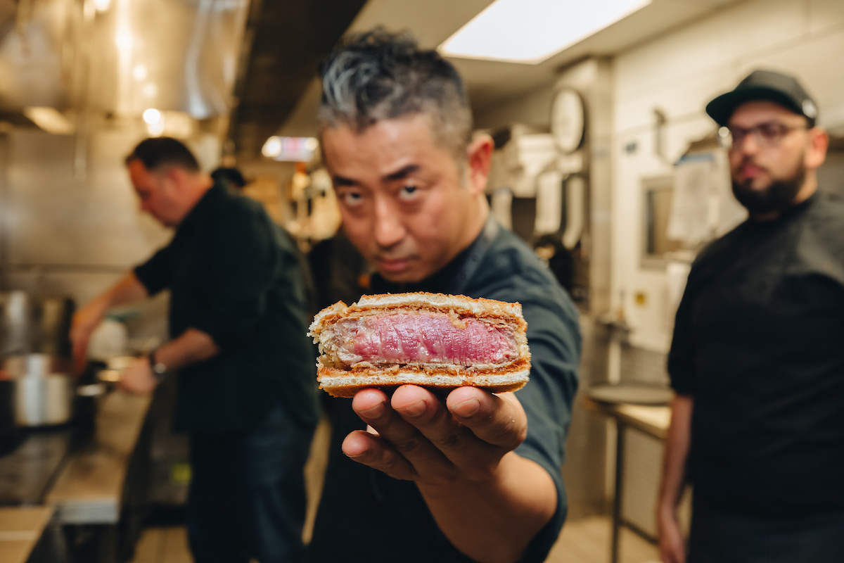 Waygu mafia in chicago with sandwich