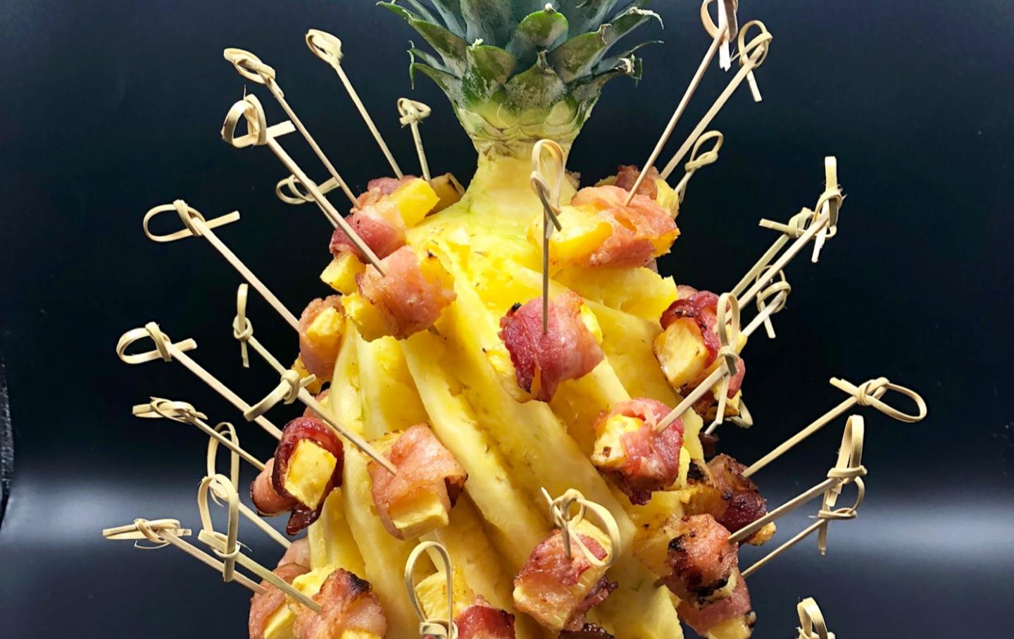 Bacon Wrapped Pineapple from Mon Ami Gabi
