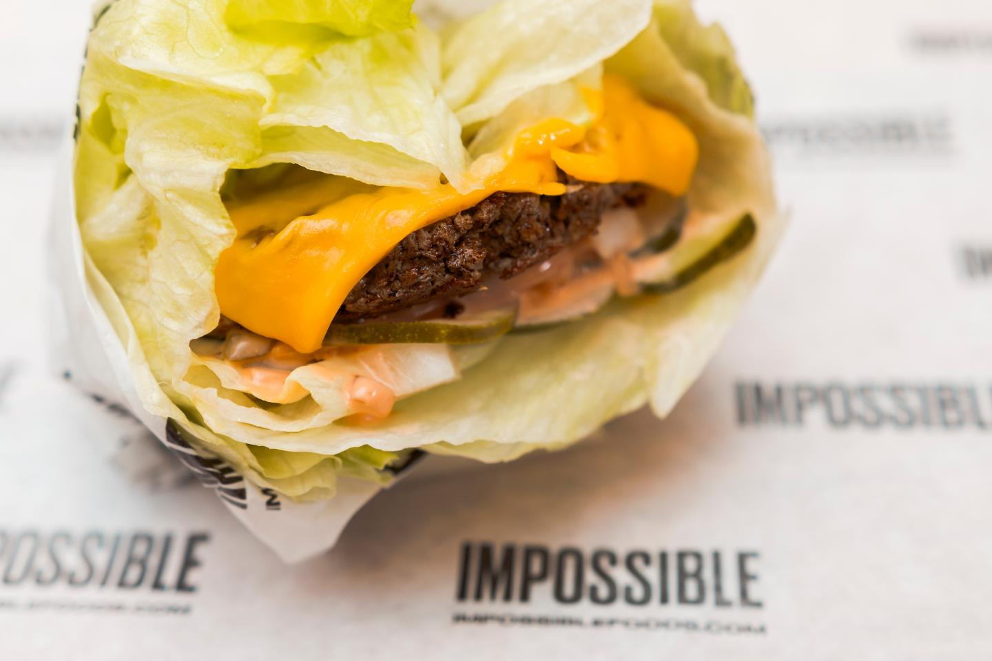 Impossible Burger Salad Style at M Burger