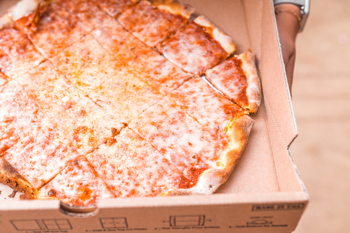 classico cheese pizza from osteria via stato carry out