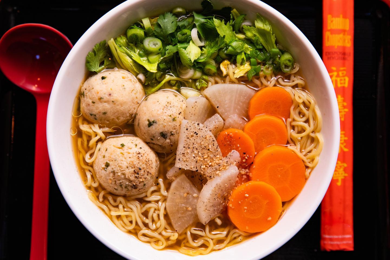 Ramen-san Miso Matzo Ball Soup