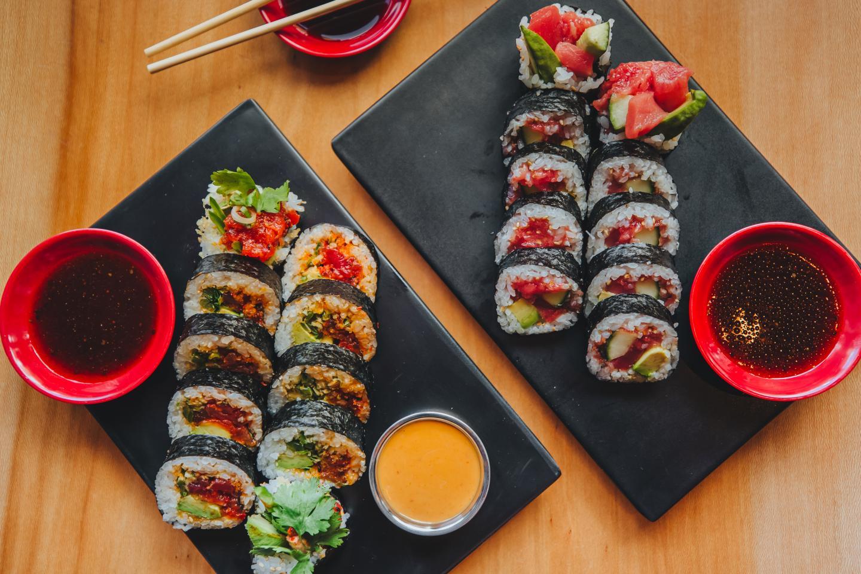 Maki rolls from ramen san deluxe