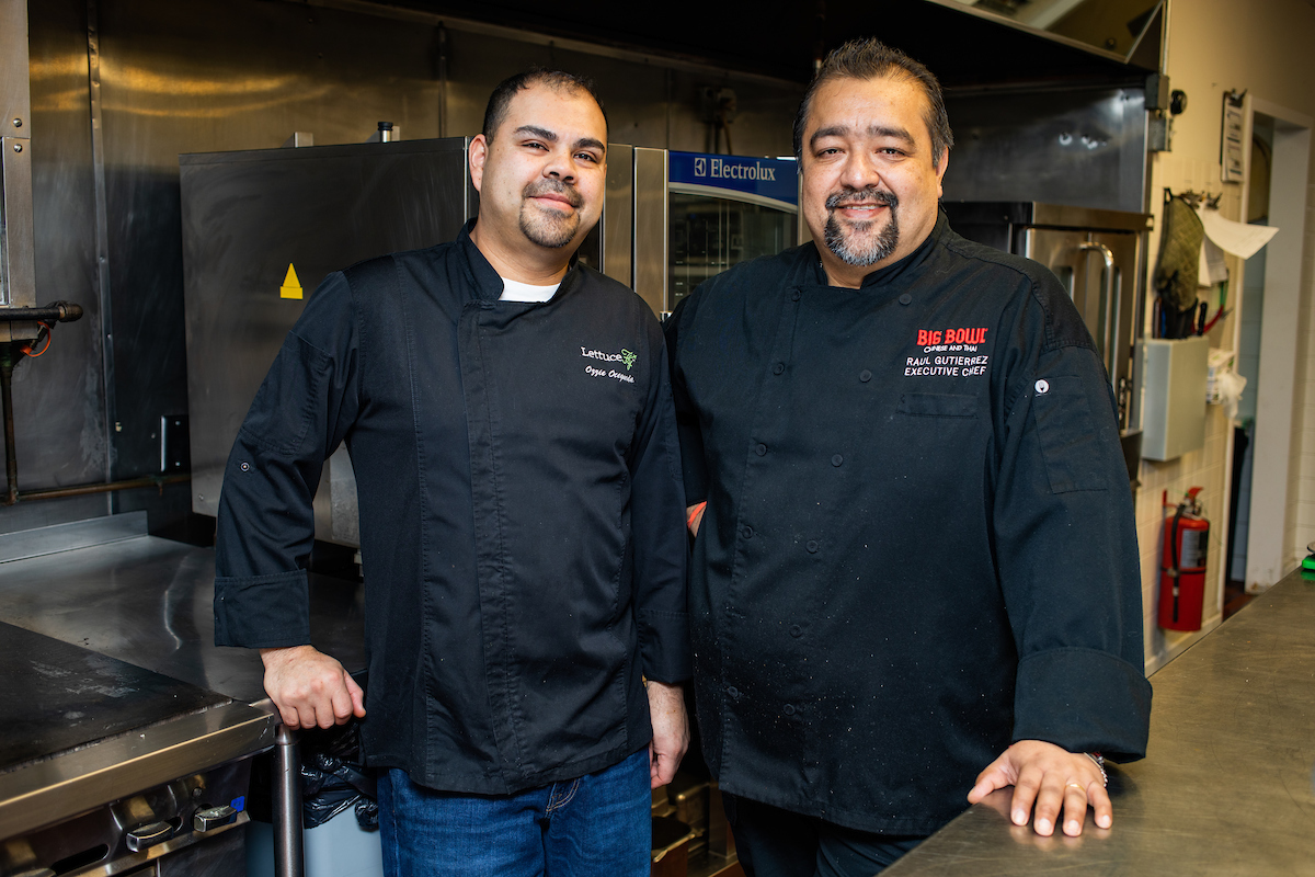 Ozzie and RAul in the Test Kitchen